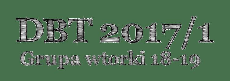 Grupa 2017 Pierwsza Edycja dbt 2017 grupa edycja pierwsza