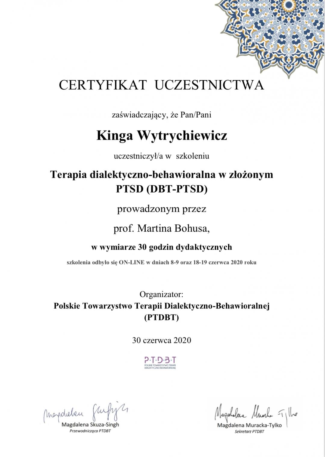 Kinga DBT-PTSD Martin Bohus PTDBT